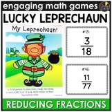 Saint Patrick's Day Reducing Fractions Game