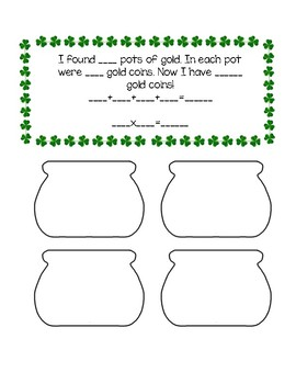 St. Patrick's Day Repeated Addition for March