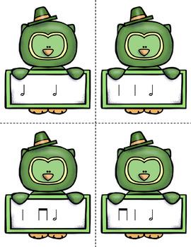 St. Patrick's Day Rhythm Races Game {Half Note}