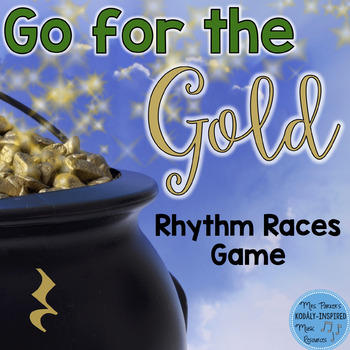 St. Patrick's Day Rhythm Races Game {Quarter Rest}