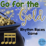 St. Patrick's Day Rhythm Races Game {Sixteenth Notes}