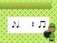 St. Patrick's Day Rhythm Reading Practice Interactive Game {ti tom}