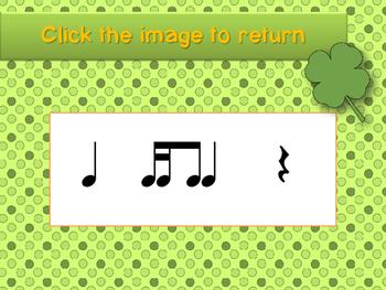 St. Patrick's Day Rhythm Reading Practice Interactive Game {tika ti}