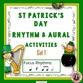 St Patrick's Day Music Worksheets: Rhythm and Music Listening Activities SET
