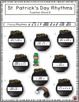 St Patrick's Day Music Worksheets: Rhythm and Music Listening Activities SET 2