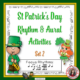 St Patrick's Day Music Worksheets: Rhythm and Music Listen