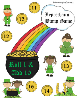 St. Patrick's Day Roll 1, Add 10 Bump Game