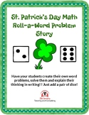 St. Patrick's Day Roll-a-Math Word Problem Digital Activity