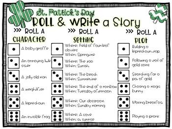 St. Patrick's Day Roll a Story