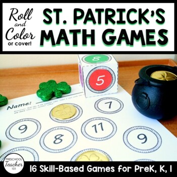 St. Patrick's Day Roll and Color Math Activities