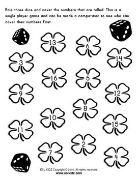 St. Patrick's Day Roll and Cover Game