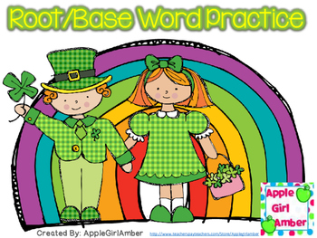 St. Patrick's Day Root Word Worksheet