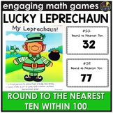 Saint Patrick's Day Round to Nearest Ten Within 100 Game