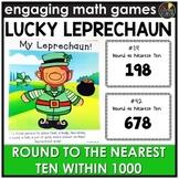 Saint Patrick's Day Round to Nearest Ten Within 1000 Game