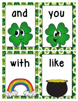 St. Patrick's Day Sight Word Write the Room