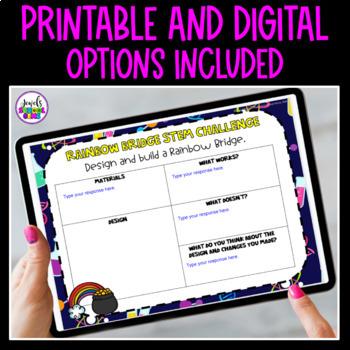 St. Patrick's Day STEM Activities (Rainbow Bridge March STEM Activities)