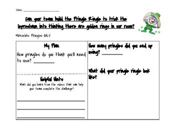 St. Patrick's Day STEM Activity! PRINGLE RINGLE