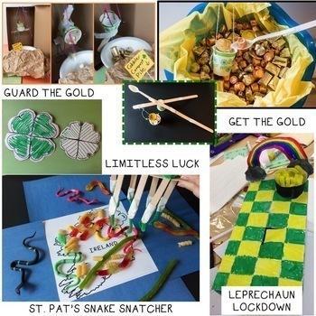 St. Patrick's Day STEM Challenge Bundle 1:1 Paperless Version