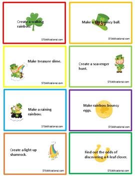 St. Patrick's Day STEM Challenge Cards