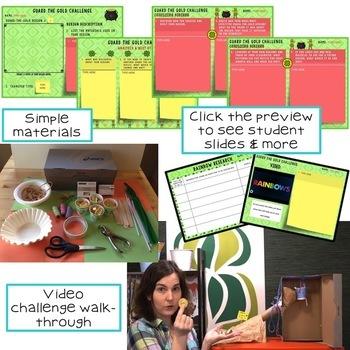 St. Patrick's Day STEM Challenge: Guard the Gold 1:1 Paperless