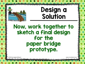 St. Patrick's Day STEM Challenge: Paper Bridge - PPT - Grades 5-8