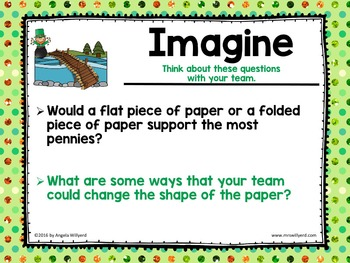 St. Patrick's Day STEM Challenge: Paper Bridge - SMART Notebook - Grades 3-5