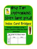 St. Patrick's Day STEM Inquiry Activity: Index Card Bridge for pennies