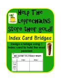St. Patrick's Day STEM Inquiry Activity: Index Card Bridge for pennies