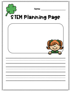 St. Patrick's Day STEM/STEAM Planning Pages