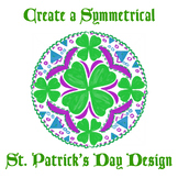 St. Patrick's Day STEM or STEAM Kaleidoscope Activity for Math and Art