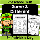 St. Patrick's Day Same and Different - Preschool