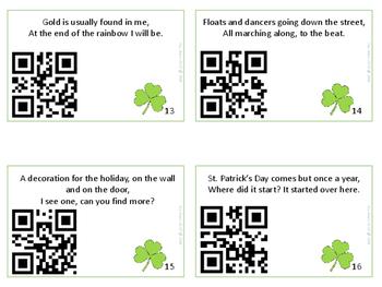 St. Patrick's Day Scavenger Hunt/QR activity