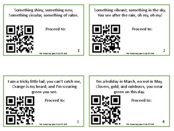 St. Patrick's Day Scavenger Hunt with QR codes