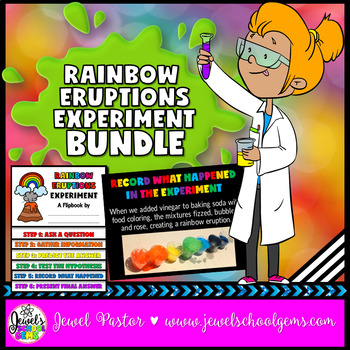 St. Patrick's Day Science Activities (Rainbow Eruptions Experiment)