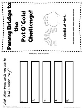 St. Patrick's Day Science: Build a Penny Bridge to the Pot O'Gold challenge!