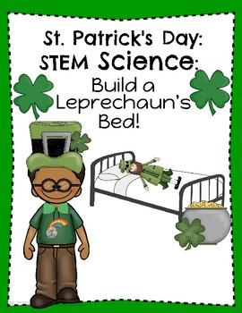 St. Patrick's Day Science STEM Build a Leprechaun a Bed!