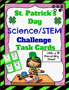 St. Patrick's Day Science STEM Task Cards!