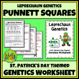 St. Patrick's Day Science Worksheet -Leprechaun Genetics Worksheet