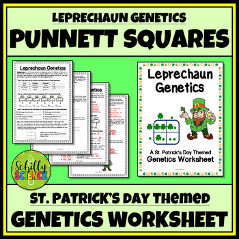 St. Patrick's Day Science Worksheet -Leprechaun Genetics Worksheet