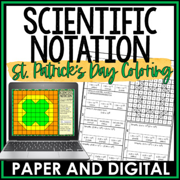 St. Patrick's Day Math Activity: Scientific Notation Review