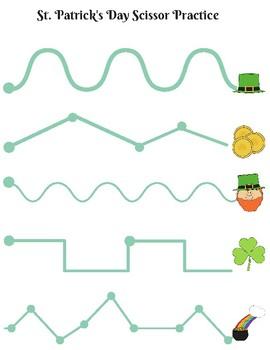St. Patrick's Day Scissor Practice, Advanced