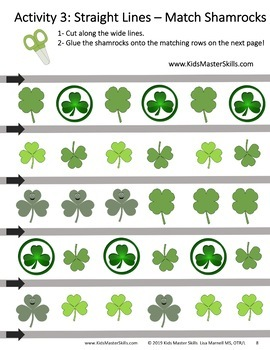 St. Patrick's Day Scissors Skills Activities