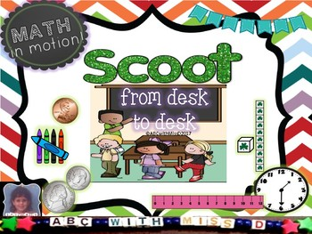 St. Patrick's Day Scoot Game! Place Value, Telling Time, Measuring,Money+ More