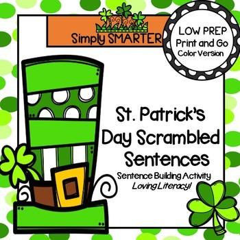 St. Patrick's Day Scrambled Sentences:  LOW PREP Sentence
