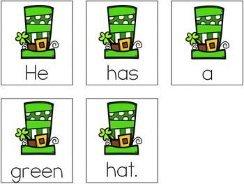 St. Patrick's Day Scrambled Sentences (Writing Station Activity)