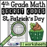 St. Patrick's Day Secret Code Math Worksheets 4th Grade