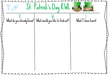 SEESAW St. Patrick's Day themed Writing Prompts
