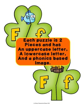 St. Patrick's Day Self Checking Alphabet Puzzles