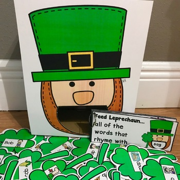 St. Patrick's Day Sensory Bin Activities:  Feed Leprechaun