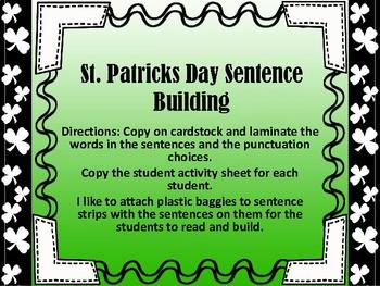 St. Patrick's Day Sentence Builder